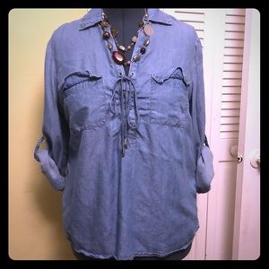 New York & Co Soho Jeans light denim tunic in XL